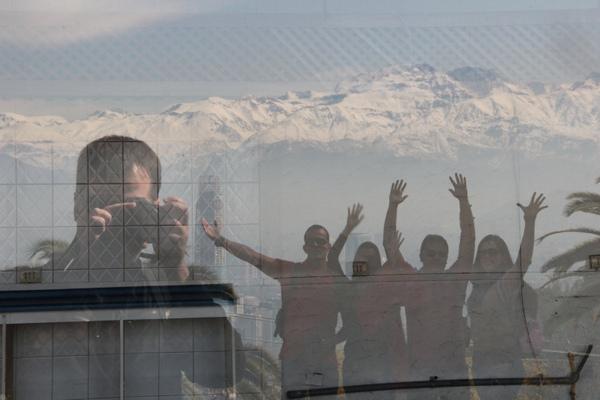 Foto Jacu - Brincando com o reflexo da Cordilheira dos Andes