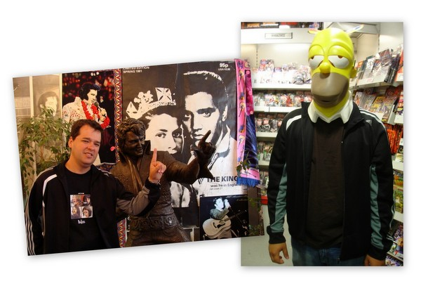Foto Jacu - Elvis Presley e Homer Simpson