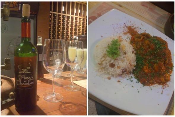 Culinária Chilena   Vinho e Merluza a La Diabla
