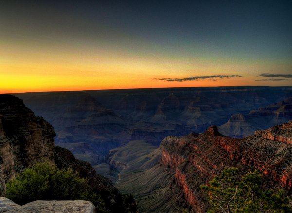 Pôr do sol no Grand Canyon