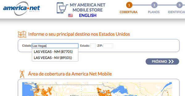 American Net Mobile | Escolha a cidade