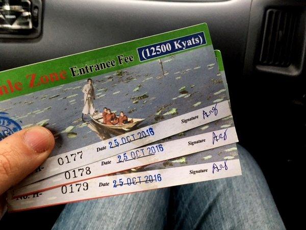 Taxa de Turismo em Inle Lake, Myanmar