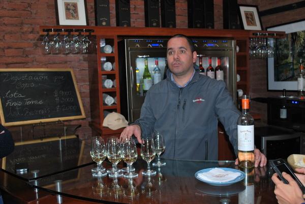 Degustação de vinhos na Vinicola Cousino Macul