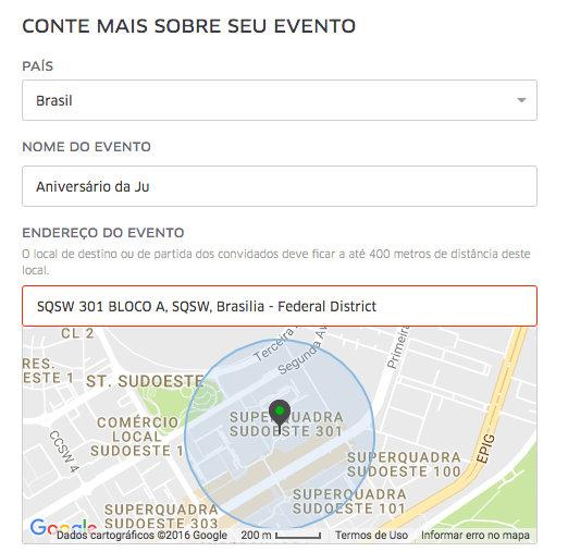 UberEVENTS | Criando o seu evento