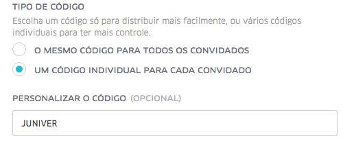 UberEVENTS | Personalize o seu código