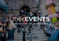 Uber inova mais uma vez lançando o serviço UberEVENTS