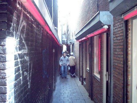 Corredores do Red Light District em Amsterdã
