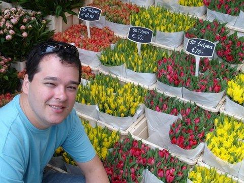 Mercado das Flores em Amsterdã