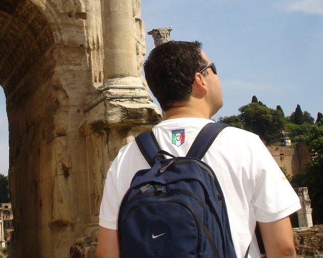 O mochileiro em Roma