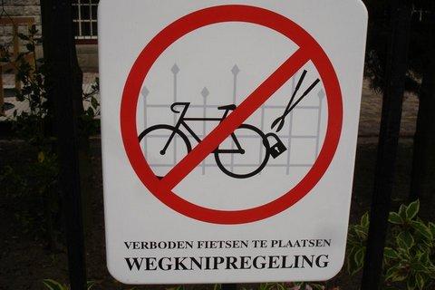 Placa de Proibido Estacionar Bicicleta em Amsterdã