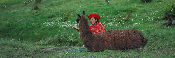 Nativos pedindo ajuda em Cuzco