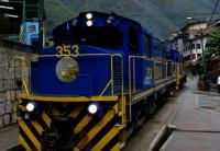De trem para Machu Picchu