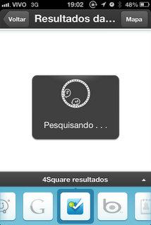 Buscando no Foursquare
