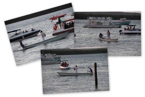 Jurady do Sax no meio dos barcos de turistas