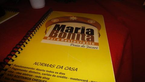 Cardápio do Restaurante Maria Bonita | Cabedelo, PB