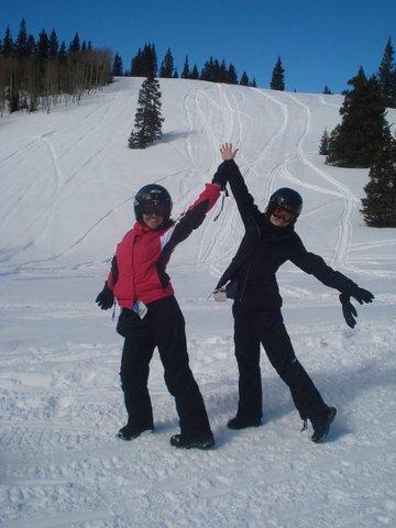 Millena jacuzando na estação de esqui de Telluride, no Colorado