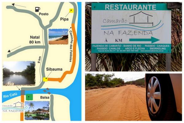 Mapa, Placa e Estrada | Camarões na Fazenda