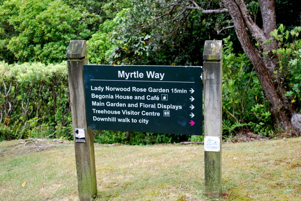 Wellington | Sinalização do Jardim Botânico