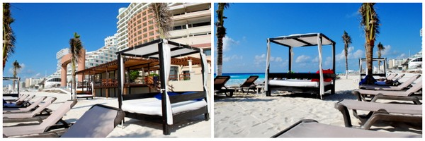 Hotel NYX | Cancun | Esteiras na praia