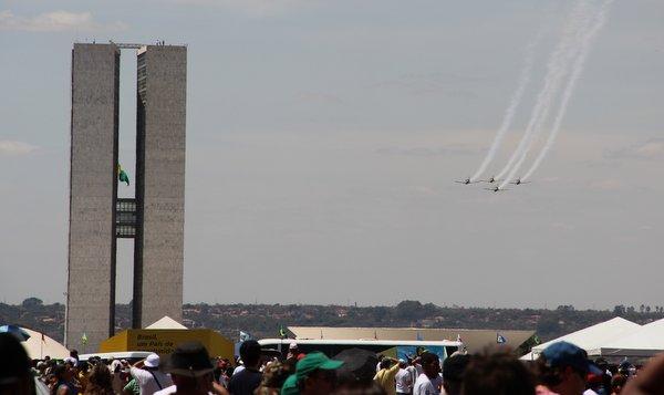 Desfile 7 de Setembro | Brasília | Esquadrilha da Fumaça na Torres do Congresso