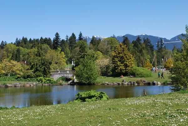 Stanley Park | Vancouver | Vista para as montanhas