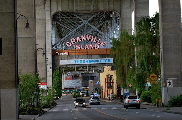Granville Island   A entrada