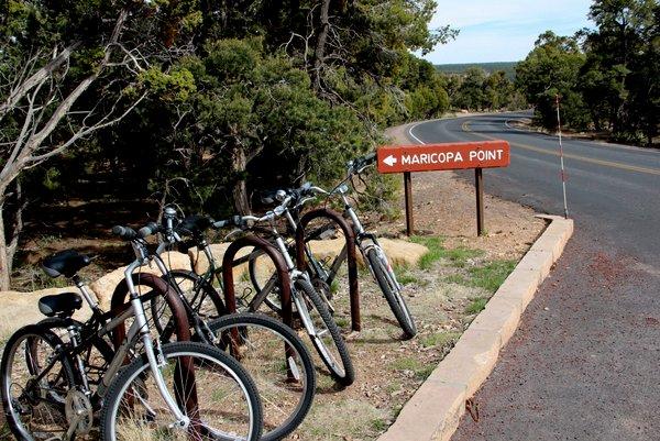 Bike tour no Grand Canyon | Estacionamento de biciletas