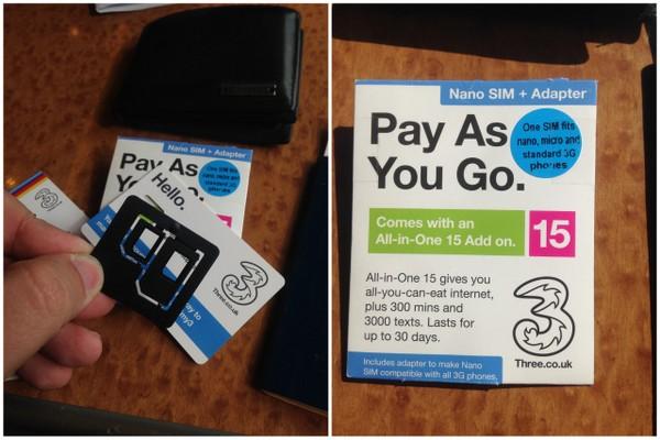 3G na Inglaterra | SIM Card