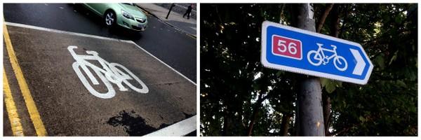 Liverpool | Sinalização das vias para bicicletas