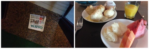 Ritz Lagoa da Anta   Jornal debaixo da porta e Café da Manhã