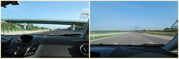 A estrada de Lisboa a Porto