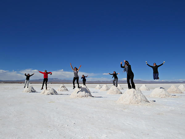 A foto jacu no Salar de Uyuni não pode faltar
