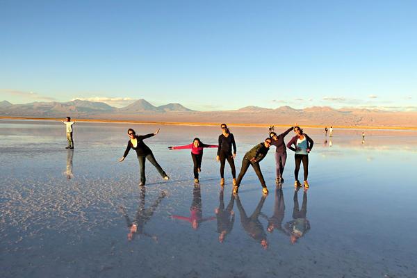 As meninas na Laguna Tebinquiche