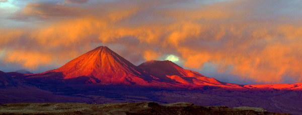 O pôr do sol de Licancabur