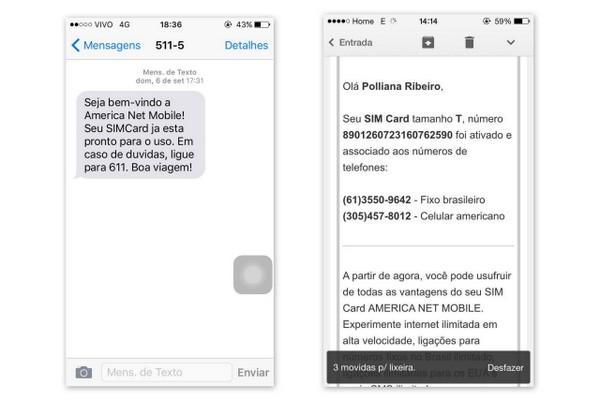 American Net Mobile | Ativação do chip