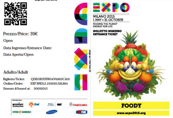 Expo Milano 2015 | Ticket