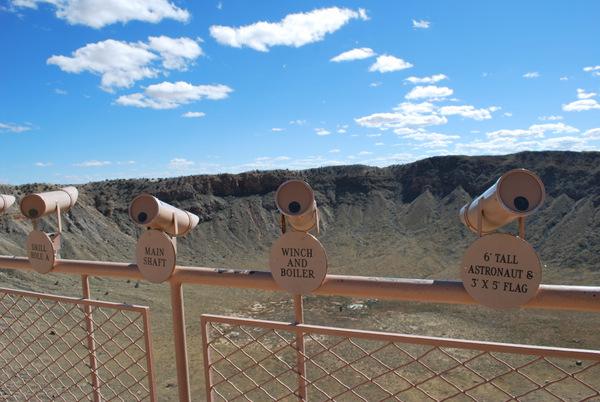 Cratera do Meteoro   Arizona   Pontos de Observação