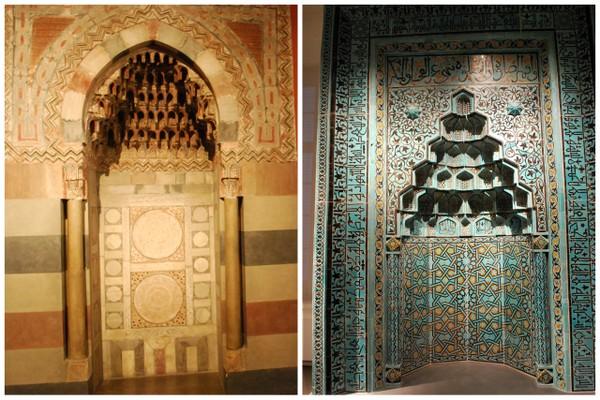Mihrab, um nicho de oração islamico, no Pergamoum Museum em Berlim
