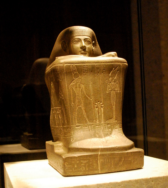 Sacerdote do Deus Amon no templo de Karnak