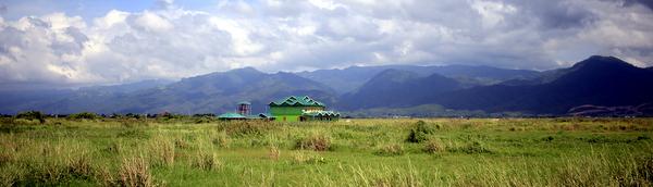Paisagem do Inle Lake em Myanmar