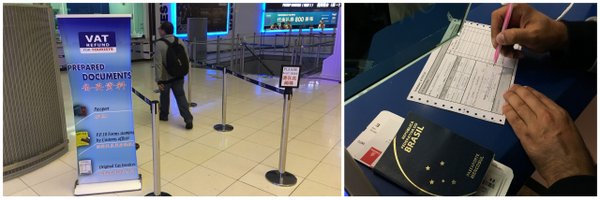 Balcão VAT Refund na área de embarque do Aeroporto de Bangkok