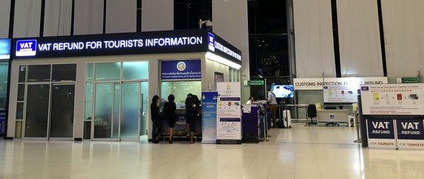 Balcão VAT Refund no Aeroporto de Bangkok