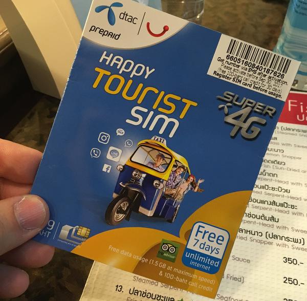 Comprando chip 3G na Tailândia