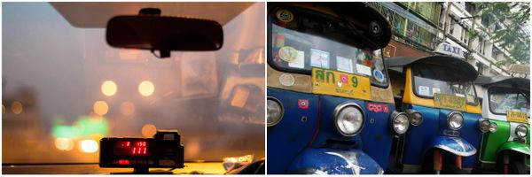 Taxi e Tuk-Tuk em Bangkok