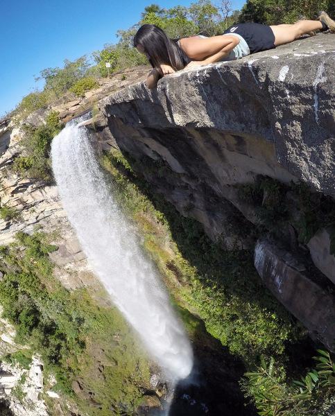 Olhando a Cachoeira São Domingos do alto