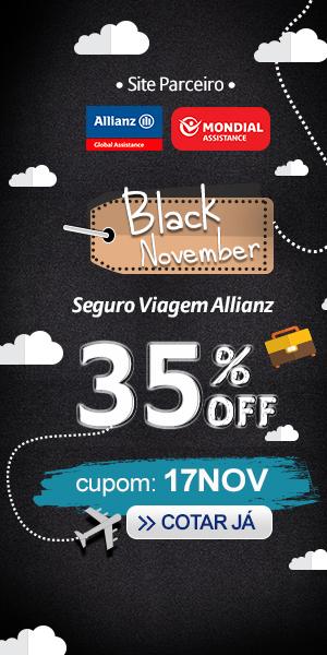Seguro Viagem com 35% de desconto - Cupom de Desconto Black November