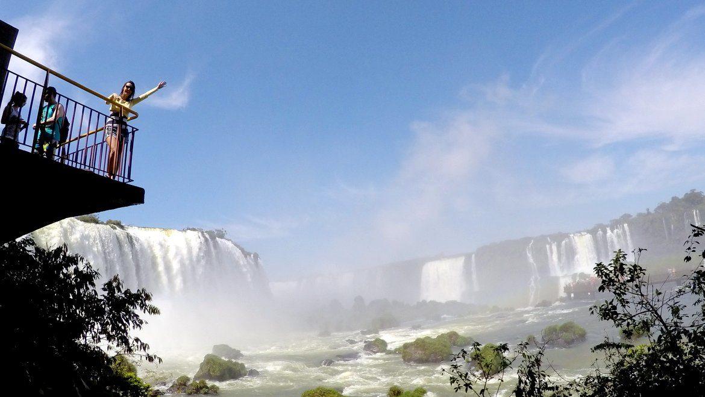 Analice nas Cataratas do Iguaçu